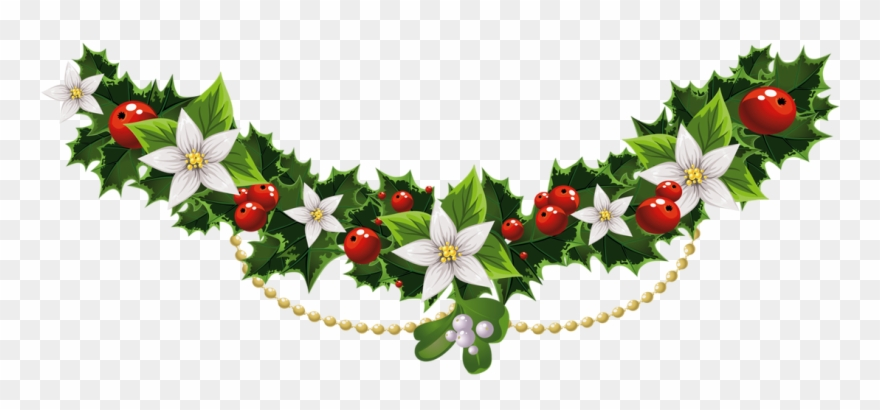 Merry Christmas Clipart Flower.