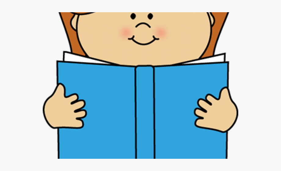 Girl Reading A Book Clipart.