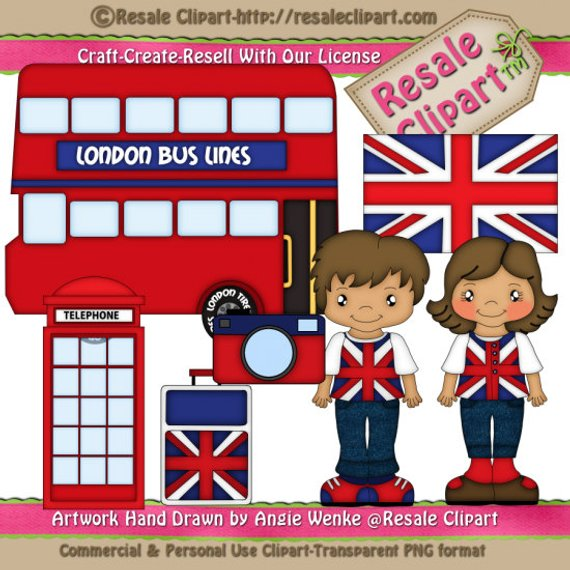 London Family Vacation 2 Clipart (Digital Download Zip File.