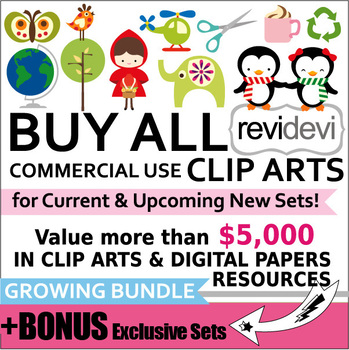 Buy all commercial use CLIP ART Growing Bundle (Lifetime Access to Cliparts).