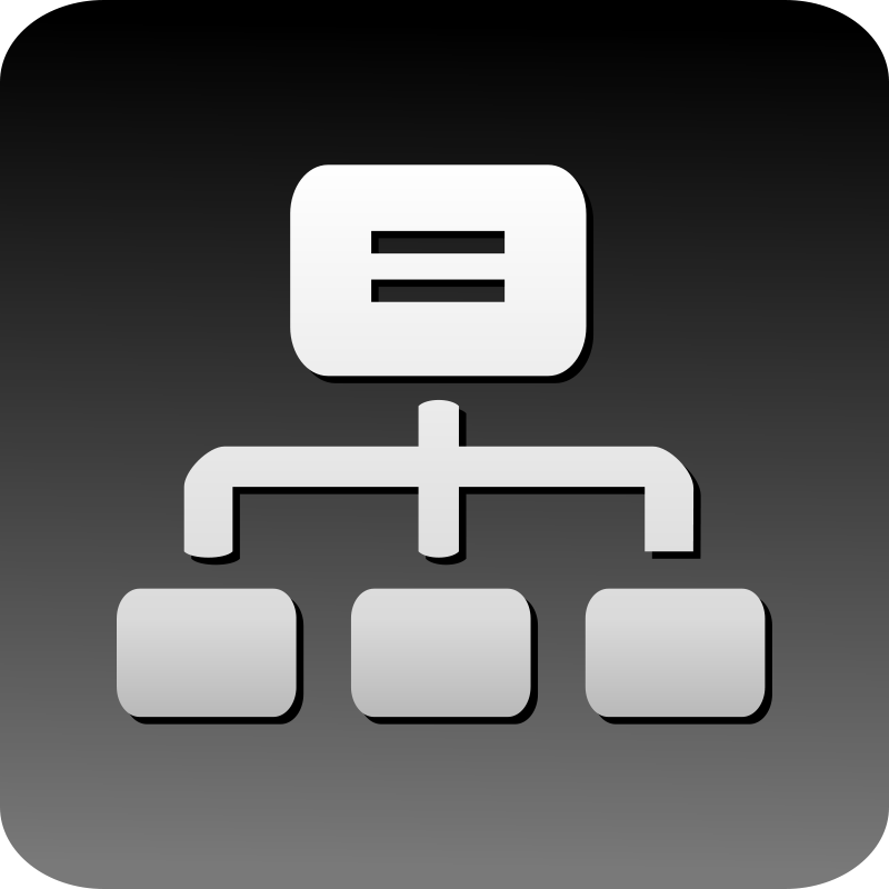 Free Clipart: Cluster icon.