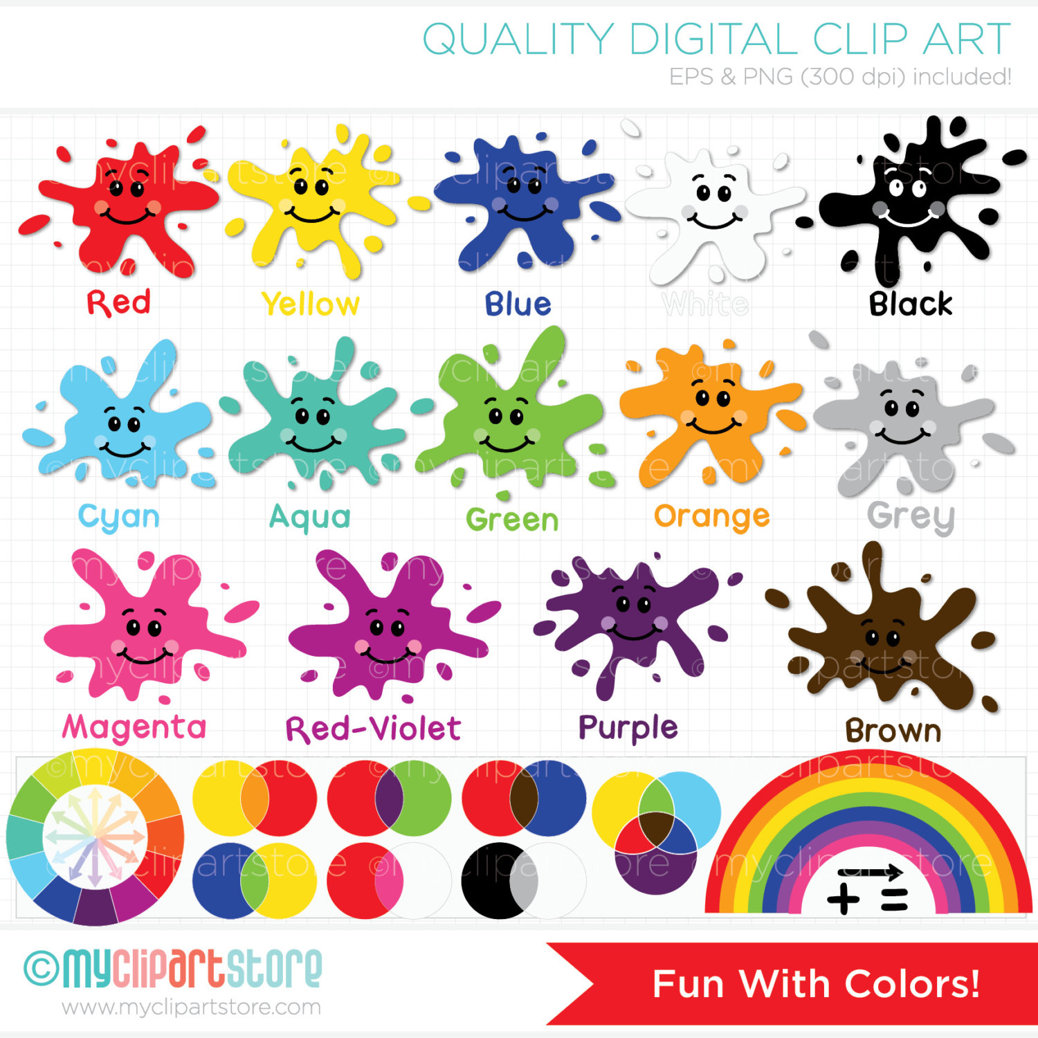 30 Colors Clipart paint for free download on Saurabh.