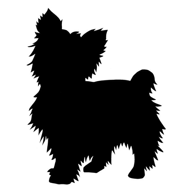 Yorkie Silhouette would love this on my shoulder in memory of Emma.