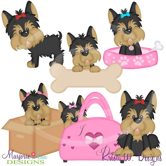 All Cute Yorkie Silhouette With Eyes Clipart Clipground
