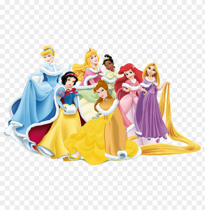 Download group of disney princesses clipart png photo.