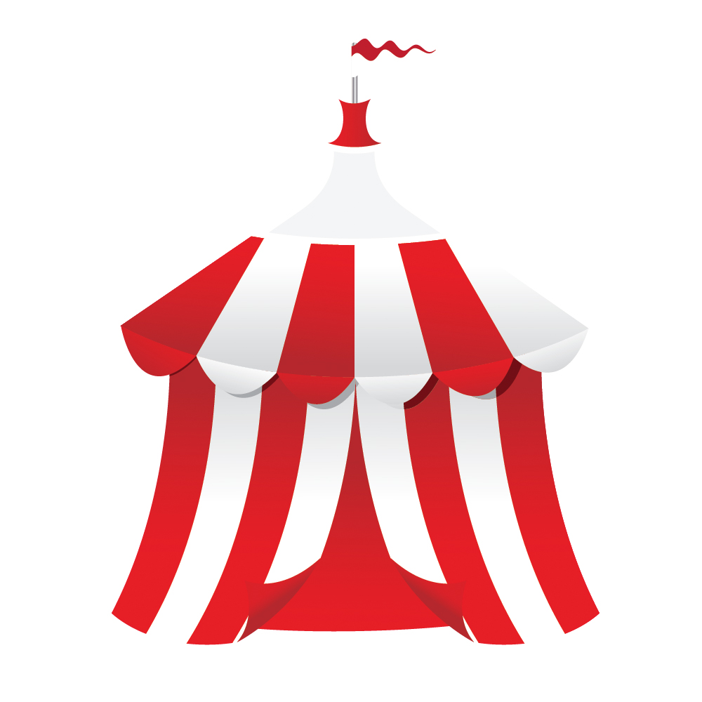 Circus tent outline clipart free.