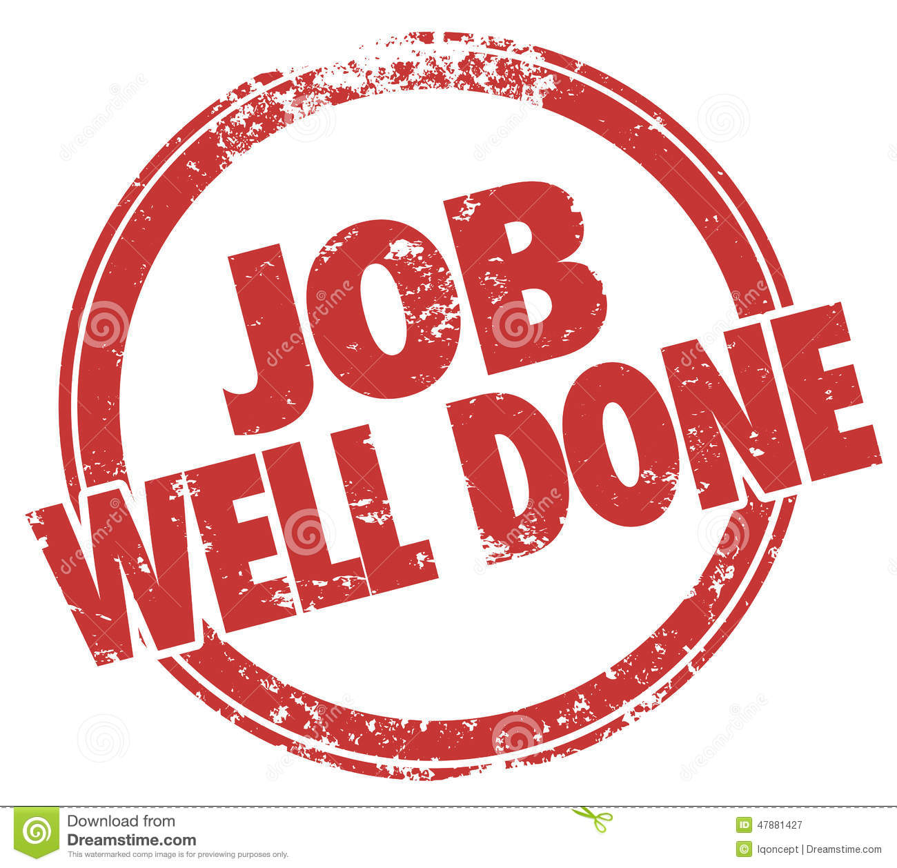 Free Clipart For Job Well Done.