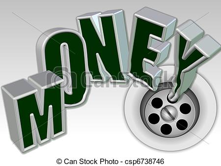 Money down the drain Stock Illustration Images. 27 Money down the.