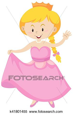 Girl dressed up as princess Clipart.