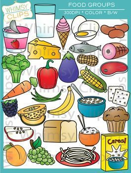 Food Groups Clip Art.