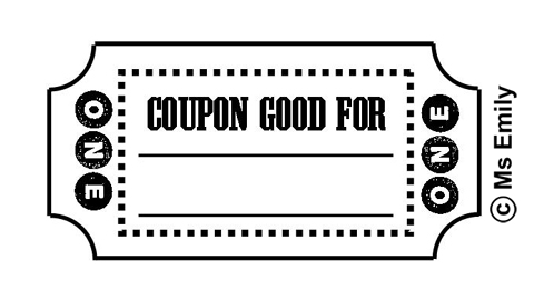 COUPONS in BLACK and WHITE Free Clip Art at My Clipart Cafe.