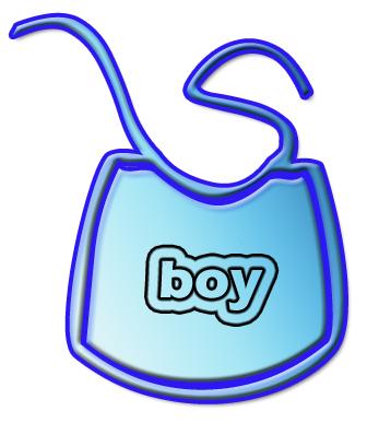 Baby Boy Bib Clipart.