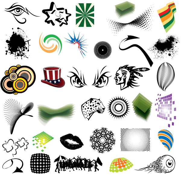 Free Vector Clip Art Elements Pack.