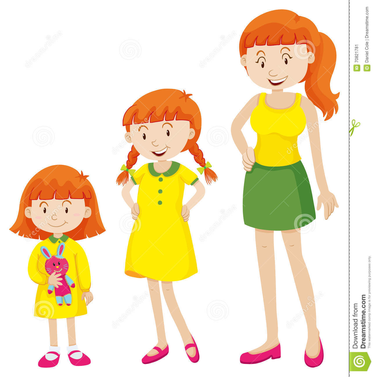 Child Growing Up Clipart.