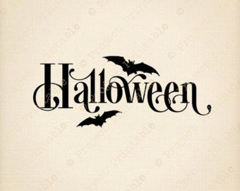 HALLOWEEN Graphics Instant Download Printable BATS.