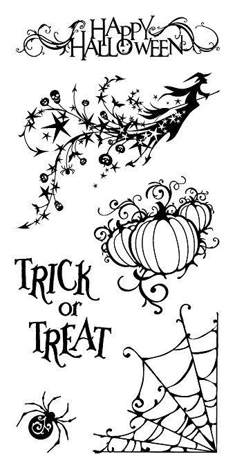 Inkadinkado Clear Stamp Set, All Hallows Eve.