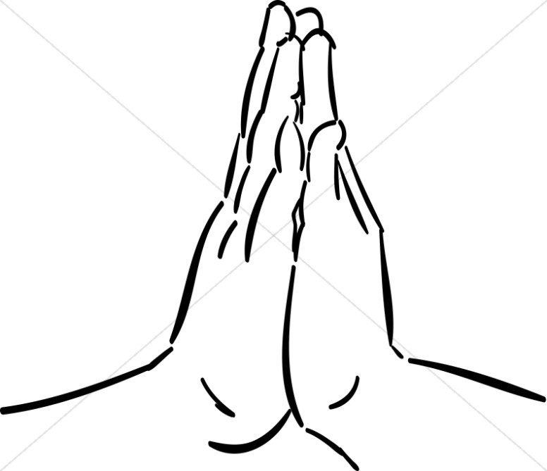 Praying hands hands together in prayer clipart.