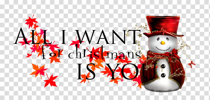 All I want for Christmas is you transparent background PNG.