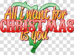 All I Want For Christmas Is You PNG clipart images free.