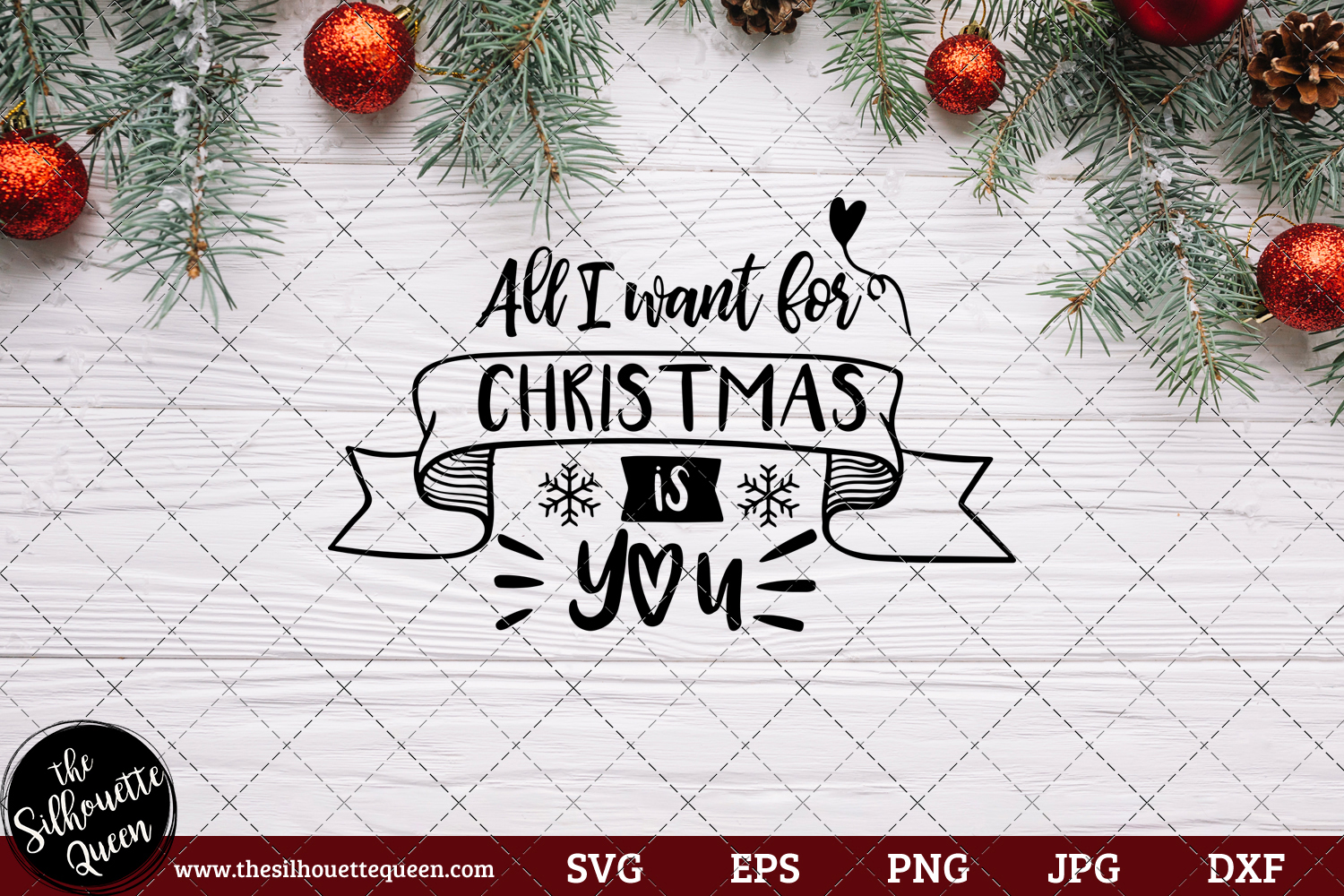 All I Want For Christmas Is You Saying SVG.