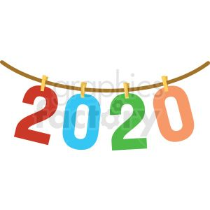 2020 banner new year clipart . Royalty.