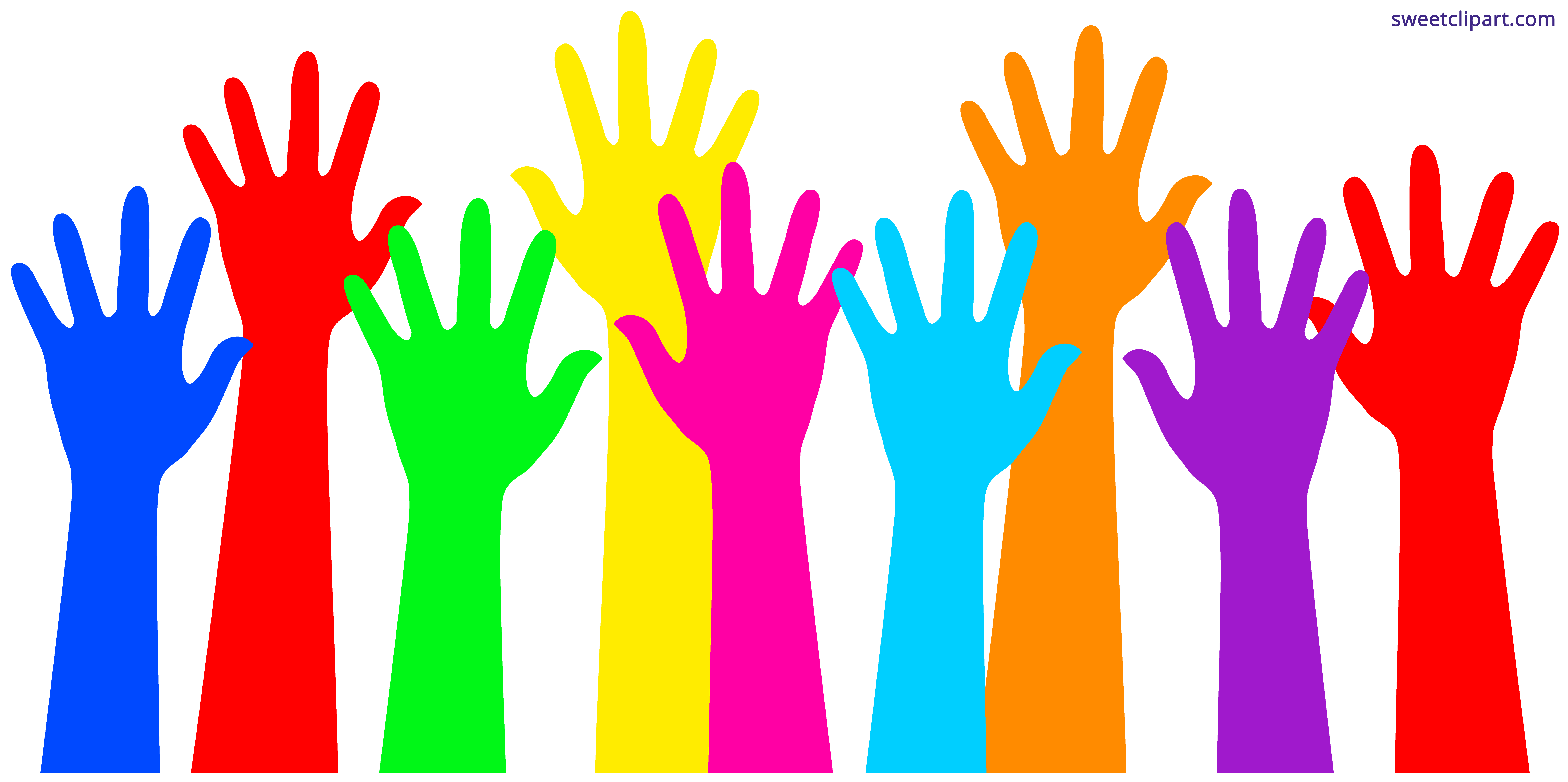 Colorful Hands Clipart.