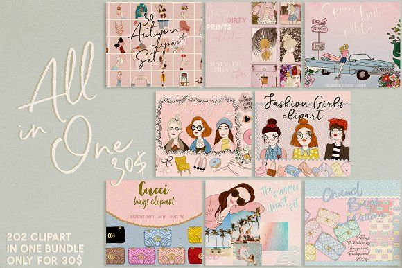 All in One Clipart Bundle by Ilenia\'s design on.