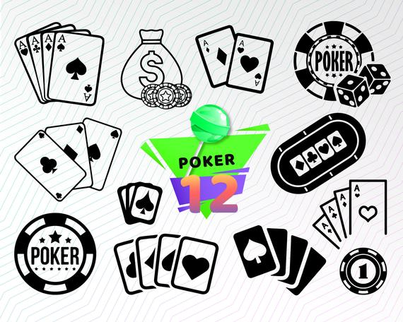POKER CARDS SVG, poker clipart, casino svg, playing cards.