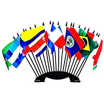 Amazon.com : Central and South America World Flag Set with.