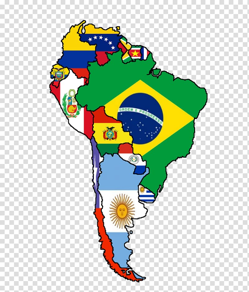 Flags of South America United States Latin America Map.