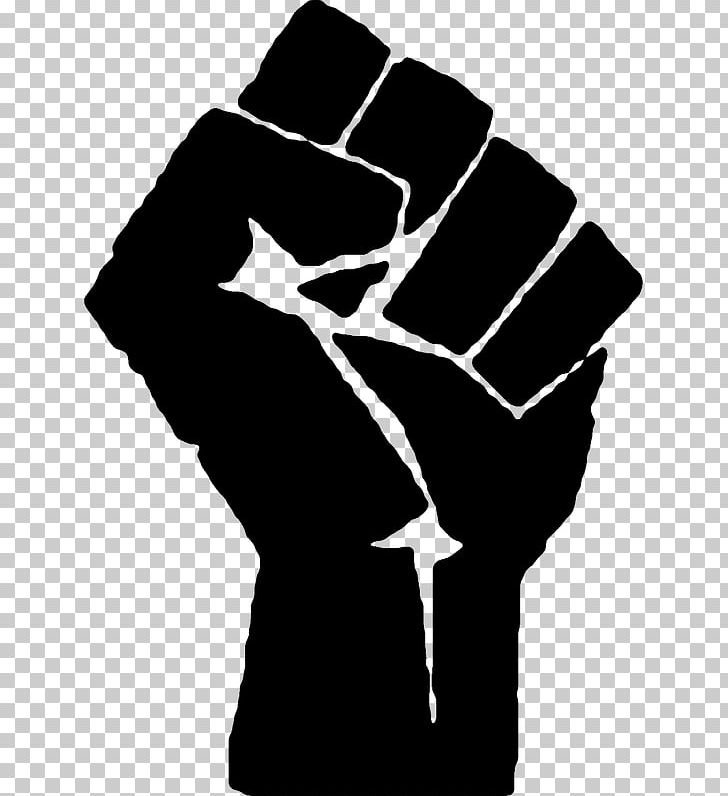Raised Fist Black Power Movement Black Panther Party PNG.