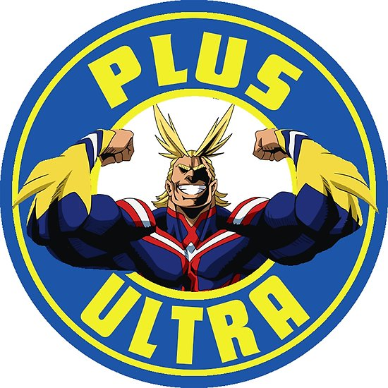 \'Boku No Hero Academia All Might Plus Ultra Starbucks Logo\' Poster by Nyki  Draw.