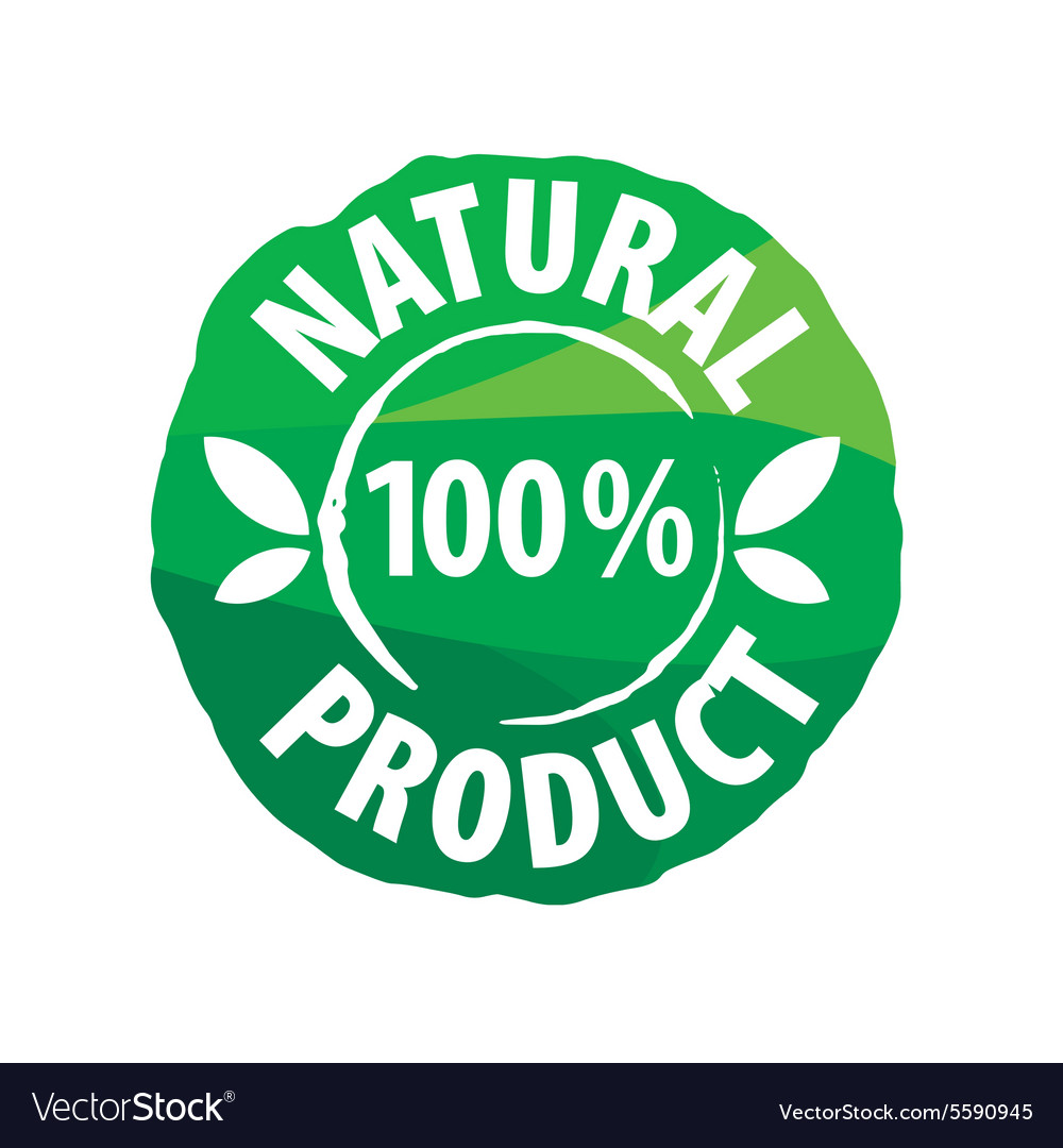 Logo round seal for natural products.
