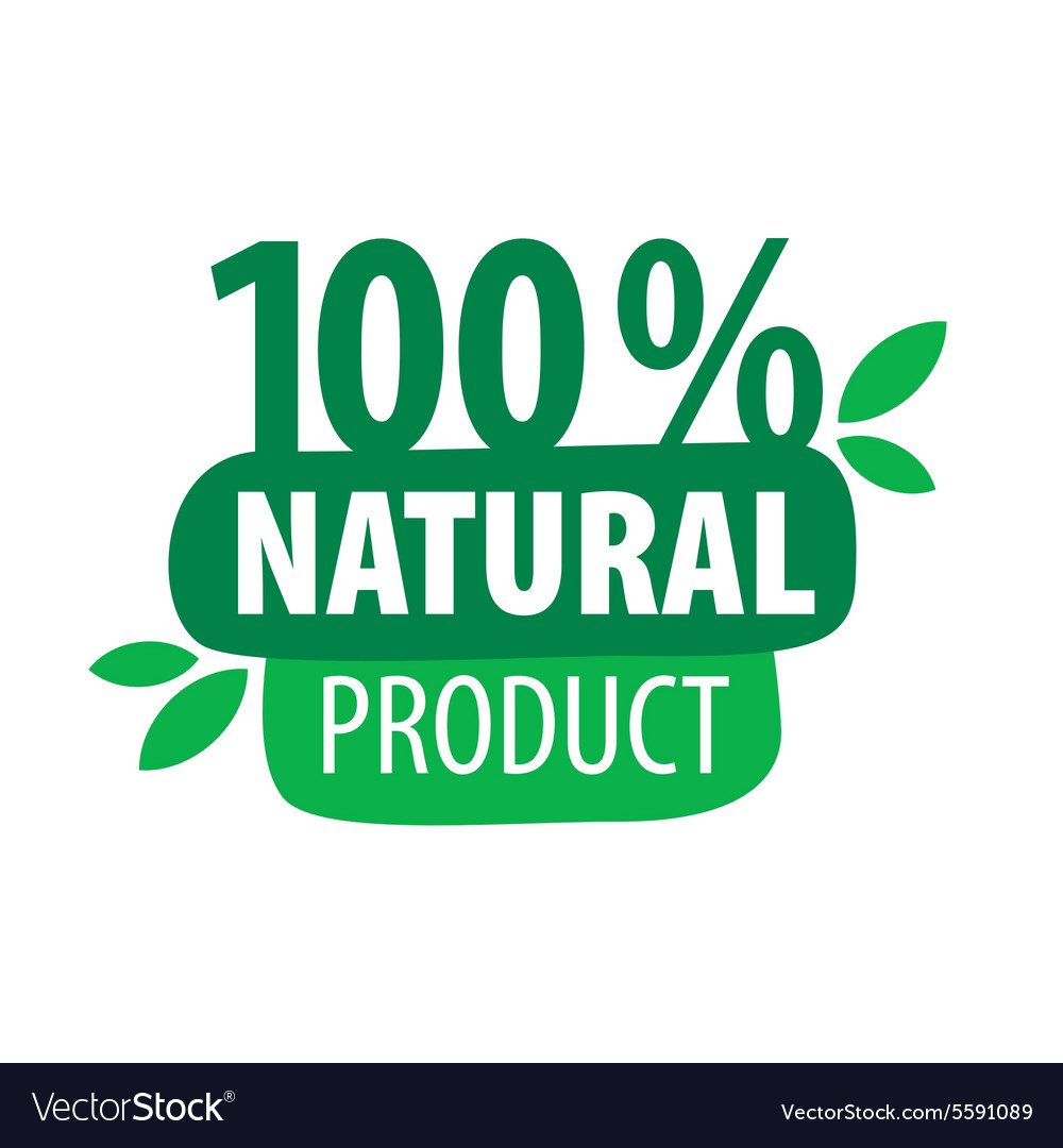 Green logo for 100 natural products.