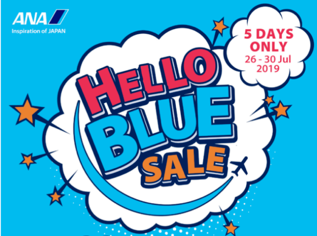 Japan\'s All Nippon Airways offers \'Hello Blue\' seat sale.