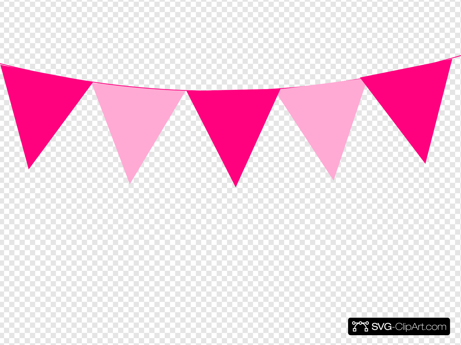 Pink Bunting Clip art, Icon and SVG.