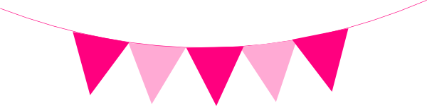 Pink Bunting Clip Art at Clker.com.