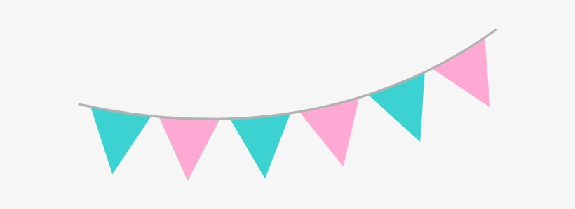 Pink Teal Bunting Clip Art At Clker.