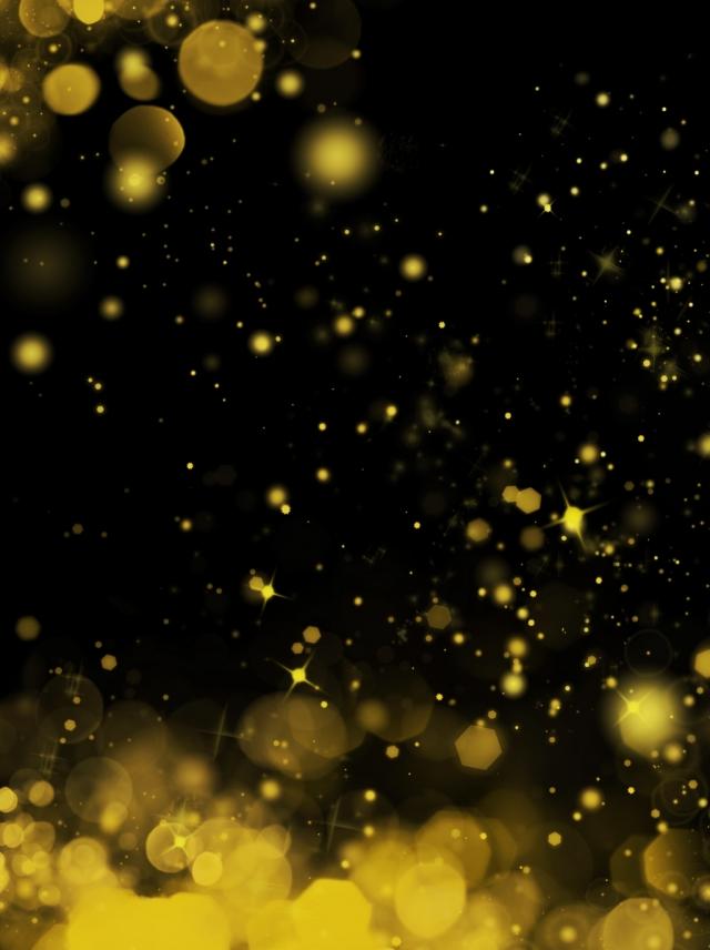All Black Gold Light Effect Background, Special Effects, Spot, Light.
