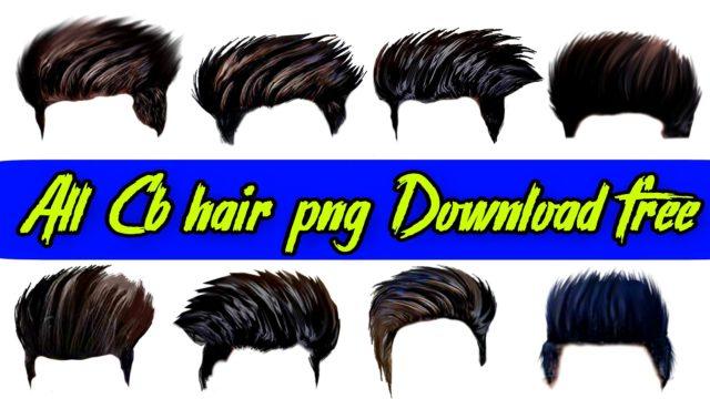 CB Editing Hair Png Download for Picsart editing download in Zip file.