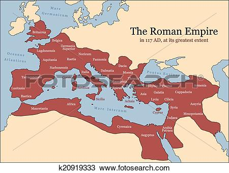 Clipart of Roman Empire Provinces k20919333.