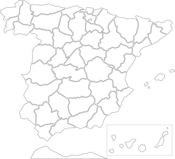 Spain Provinces clip art Free Vector / 4Vector.
