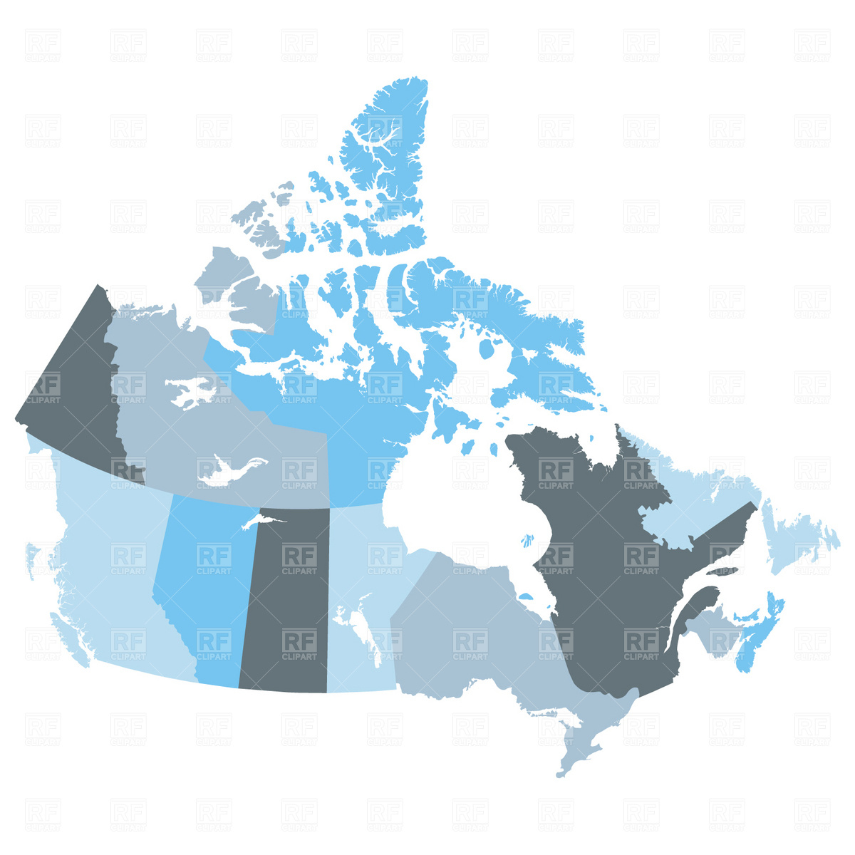 Map of provinces Canada Vector Image #1719.