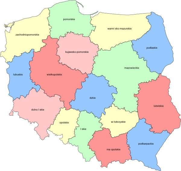 Poland Provinces clip art Free vector in Open office drawing svg.