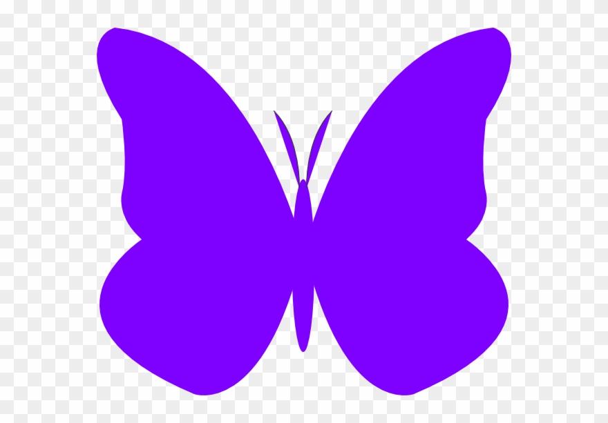 Violet Butterfly Clip Art.
