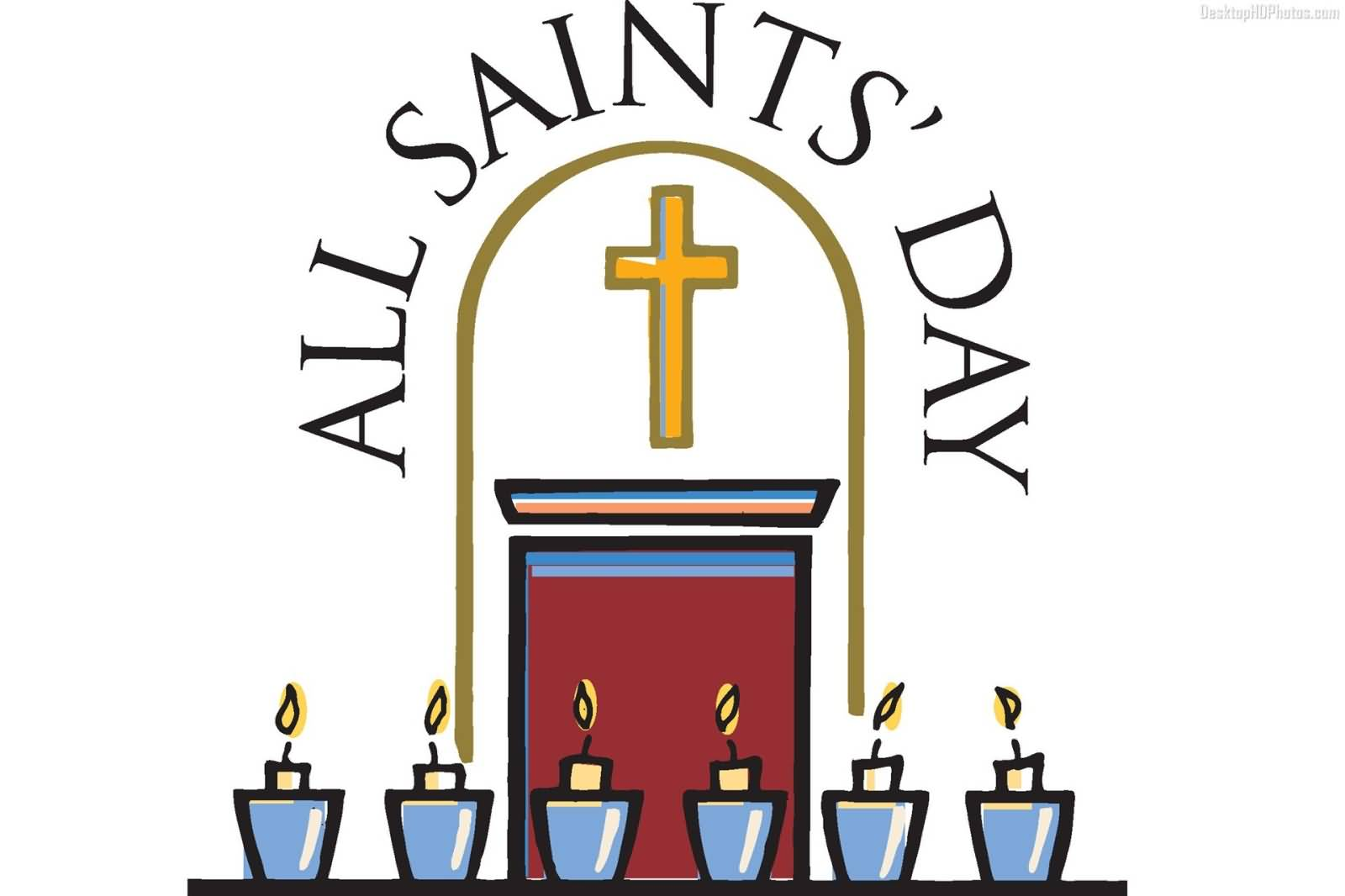 All saints day clip art.