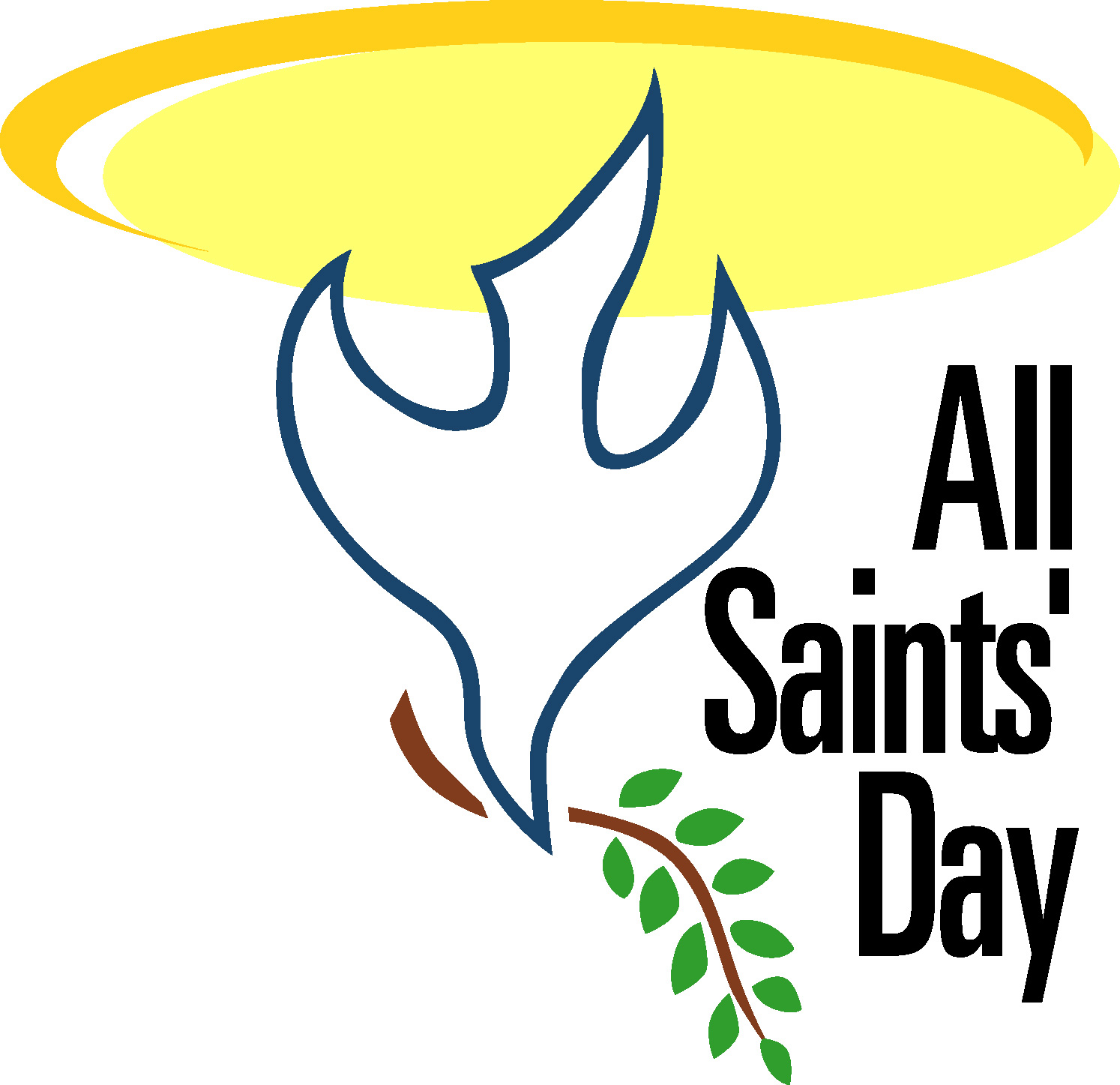All Saints Day 2016 Clipart.