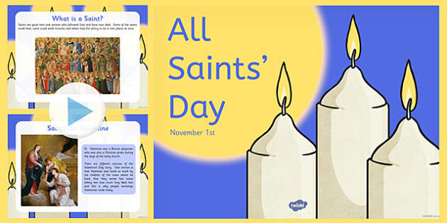 All Saints Day November 1st Candles Clipart.