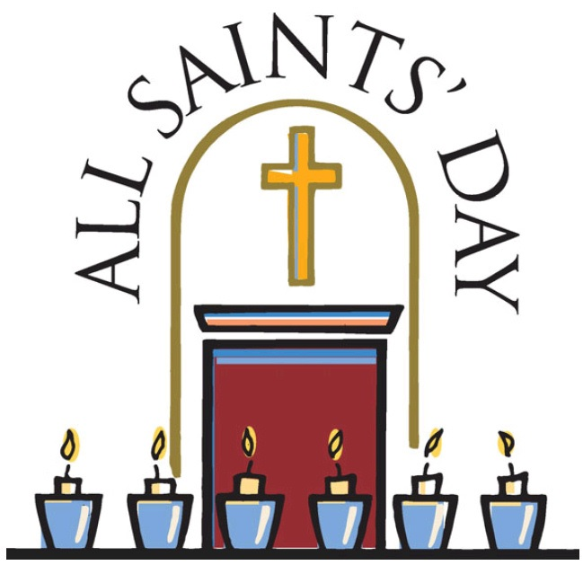 All Saints Day candles Clipart Wishes.