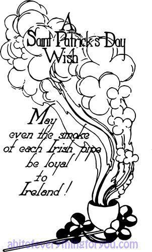 vintage Saint Patricks Day Irish wish art clipart digital.
